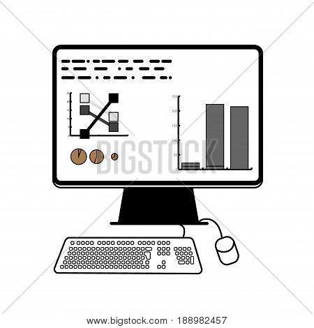 computer infographics for website design and lending