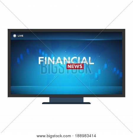 Mass Media. Financial News. Breaking News Banner. Live. Television Studio. Tv Show.