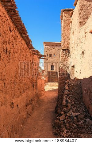 Alley In Ait Benhaddou, Morocco
