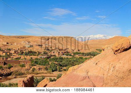 Valley At Ait Benhaddou, Morocco