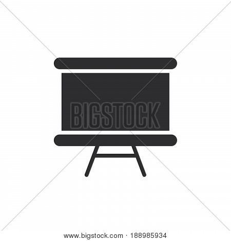 Whiteboard icon vector filled flat sign solid pictogram isolated on white. Dry erase board symbol logo illustration. Pixel perfect