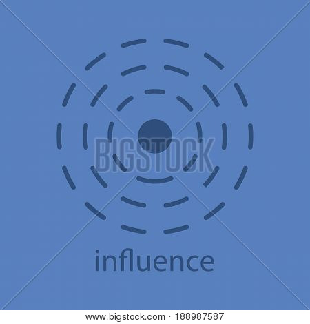 Influence glyph color icon. Silhouette symbol. Negative space. Vector isolated illustration