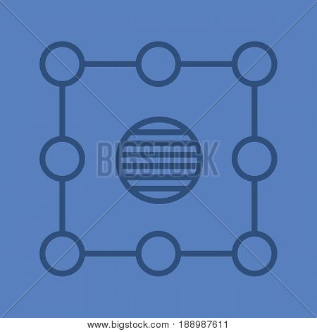 Isolation color linear icon. Insulation abstract metaphor. Thin line contour symbols on color background. Vector illustration