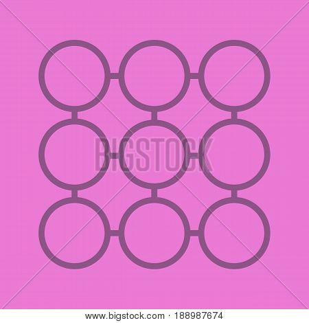 Structure symbol color linear icon. Composition abstract metaphor. Thin line contour symbols on color background. Vector illustration