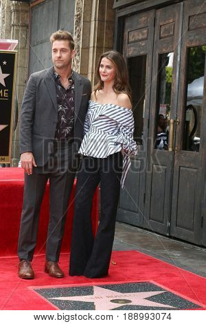 LOS ANGELES - MAY 30:  Scott Speedman, Keri Russell at the Keri Russell Honored With a Star Ceremony on the Hollywood Walk of Fame on May 30, 2017 in Los Angeles, CA