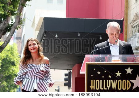 LOS ANGELES - MAY 30:  Keri Russell, Joel Fields at the Keri Russell Honored With a Star Ceremony on the Hollywood Walk of Fame on May 30, 2017 in Los Angeles, CA