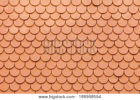 Outside Wall Wooden Shingles Siding Pattern