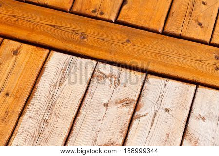 Wooden Deck Pattern Partially Stained Transparent