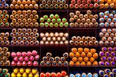 Colored Pencil Tips Colorful Spectrum Shelf Background Stacks Groups Rainbow