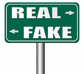 fake or real being in doubt and suspicious critical thinking possible or impossible reality check searching truth being skeptic skepticism 3D, illustration poster