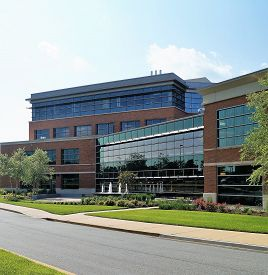 Medical Office Building Newark, Delaware USA - May 30, 2014: A modern medical office building on a hospital campus housing physician practices and other health care services