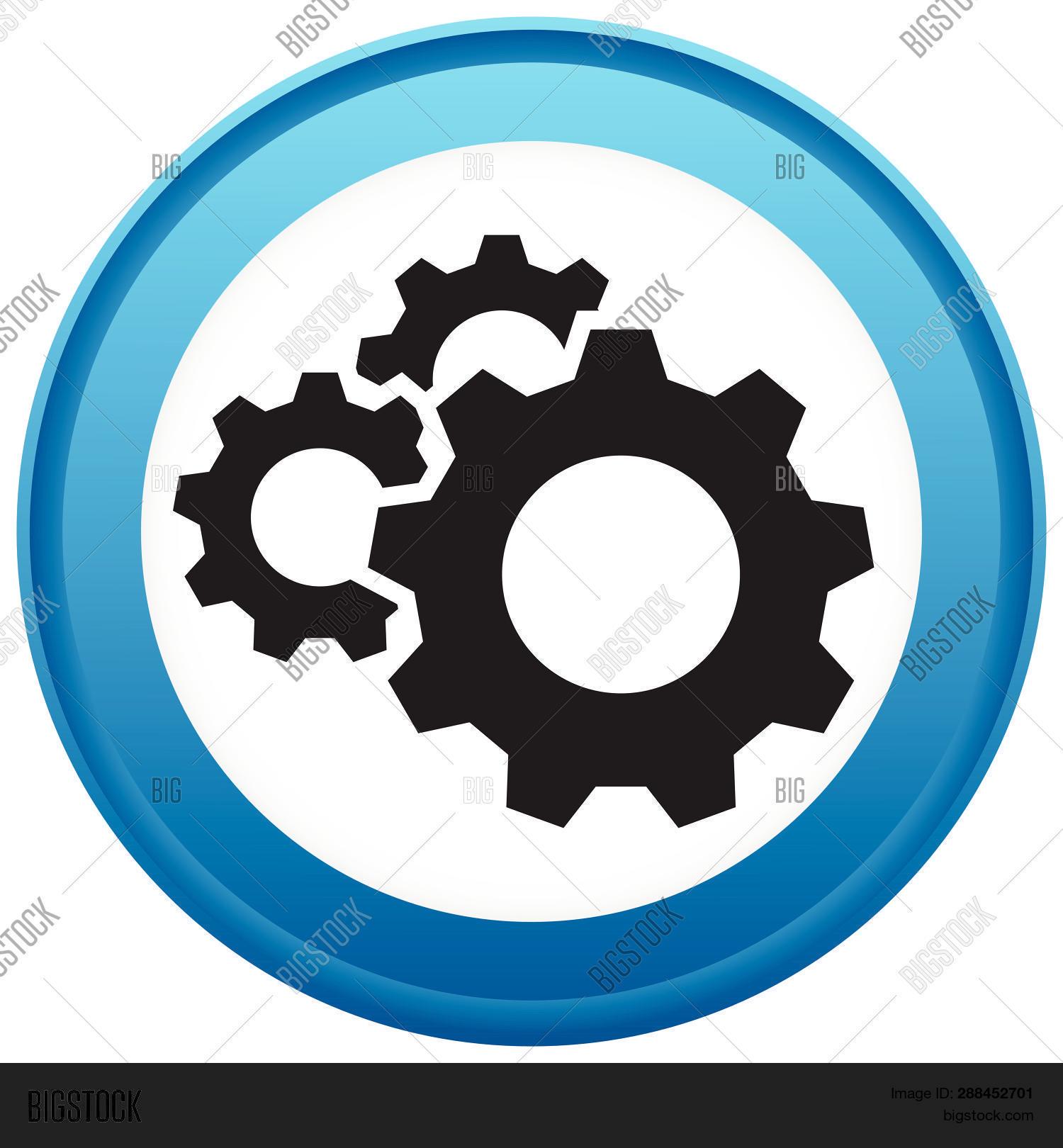 Gear, Cogwheel Icon  Vector & Photo (Free Trial)   Bigstock