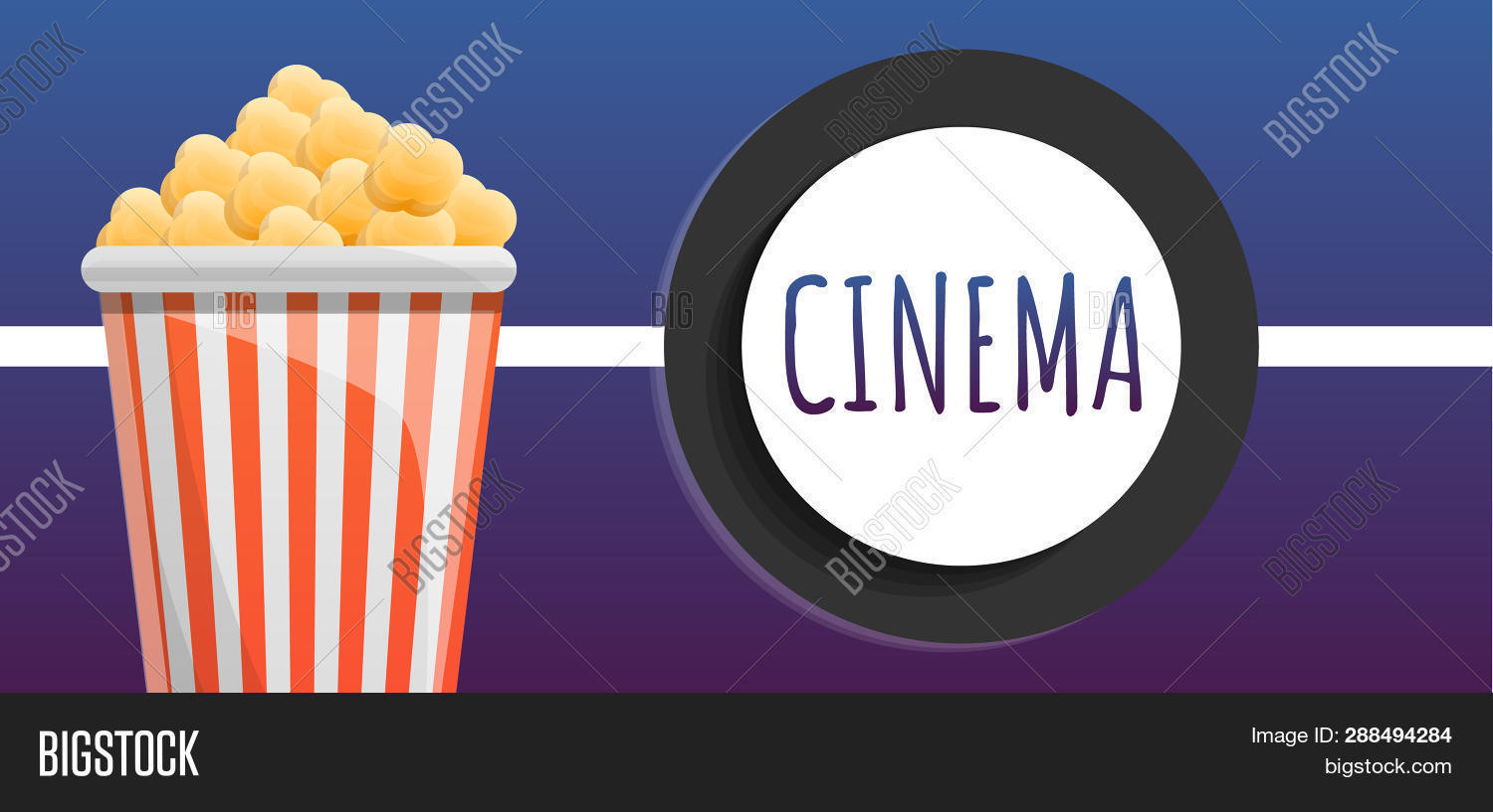 Cinema Popcorn Bucket Image Photo Free Trial Bigstock