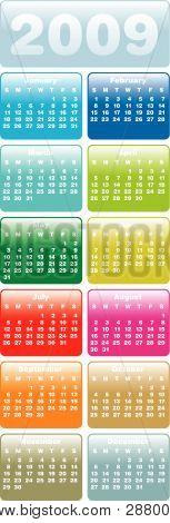Calendar For Year 2009