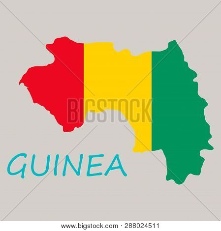 Flag Map Of Guinea Country, Graphic, Icon, Nation,
