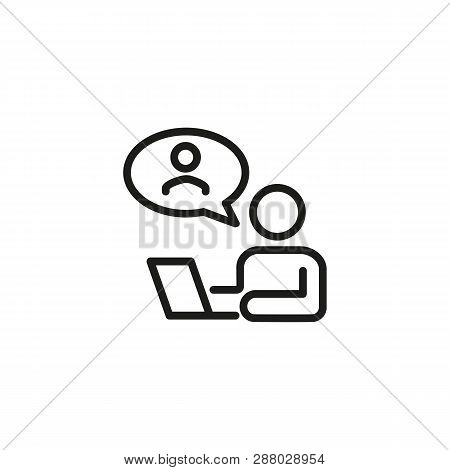 Employee Management Line Icon. Headhunting, Hr Manager, Recruitment. Management Concept. Vector Illu