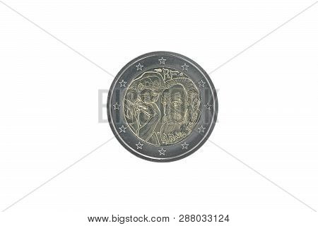 Commemorative 2 Euro Coin Of France Issued In 2017, Dedicated To 100 Years Since The Death Of August