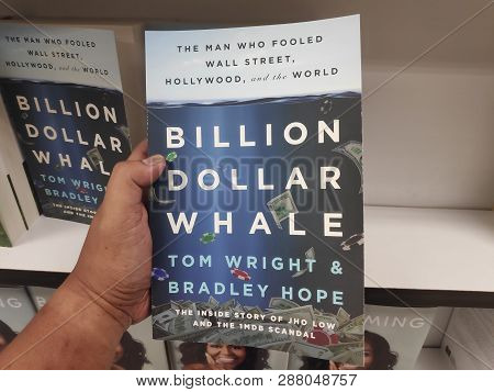 Miri,malaysia - Circa March,2019 : Billion Dollar Whale Book By Tom Wright And Bradley Hope At Books