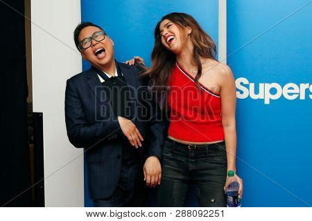 LOS ANGELES - MAR 5: Nico Santos, Nichole Bloom at the NBC And Universal Television's 'Superstore' Academy For Your Consideration Press Line at Universal Studios on 5 March, 2019 in Los Angeles, CA