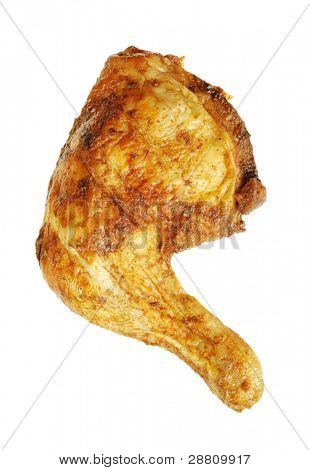 Chicken food isolated on white