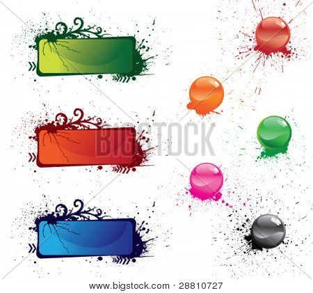 Set of beautiful vector multi-coloured buttons for a web