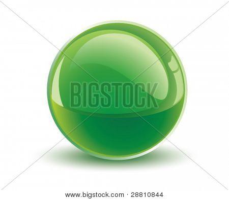 3d vector green sphere