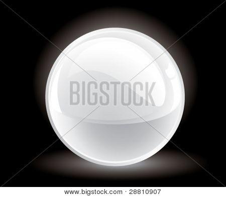 3d vector white sphere