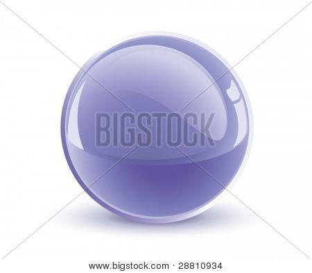 3d vector violet sphere