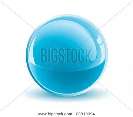 3d vector light blue sphere