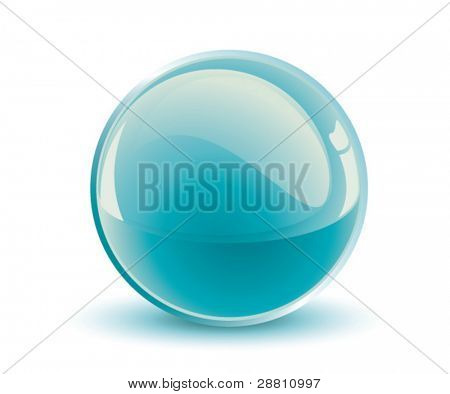 3d vector turquoise sphere