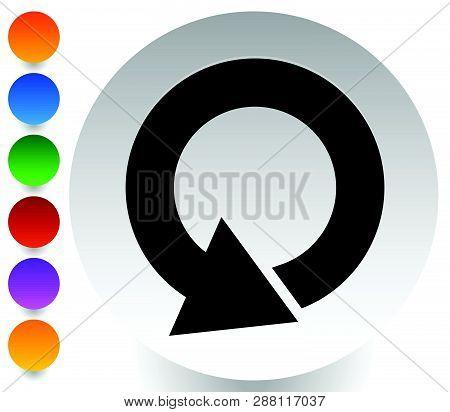 Circular 360 Degree Arrow Icon, Phase, Cycle, Restart And Similar Concepts