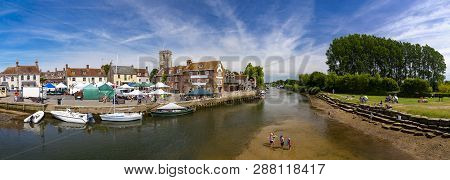 Low Tide On The River Frome At Wareham Quay