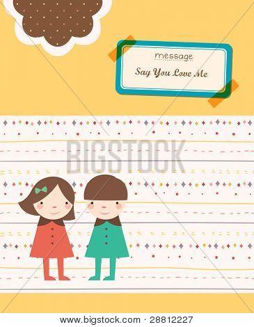 Valentine Scrapbook Elements - Lovely Couple