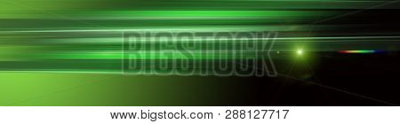 Futuristic Eco Stripe Panorama Background Design With Lights