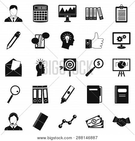 Financing Icons Set. Simple Set Of 25 Financing Icons For Web Isolated On White Background