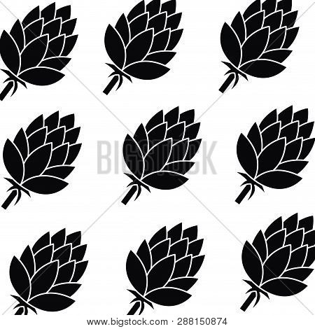 Pinecone Pattern Isolated Icon Vector Illustration Desing