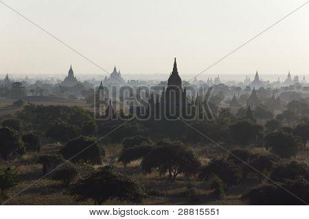 Sunrise over temples of Bagan, Myanmar