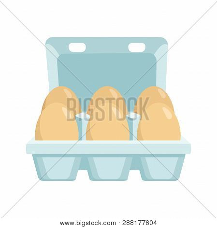 Illustration Of An Eggs Box On A White Background