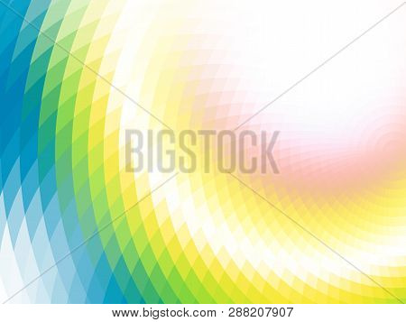 Vector Illusion Of Radial Blur Effect. Abstract Optical Illusion. Abstract Background With Mosaic Ti