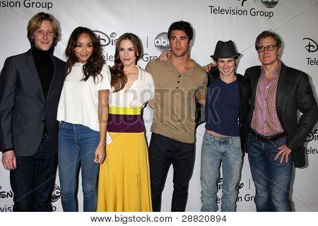 LOS ANGELES - JAN 10:  Revenge Cast  arrives at the ABC TCA Party Winter 2012 at Langham Huntington Hotel on January 10, 2012 in Pasadena, CA