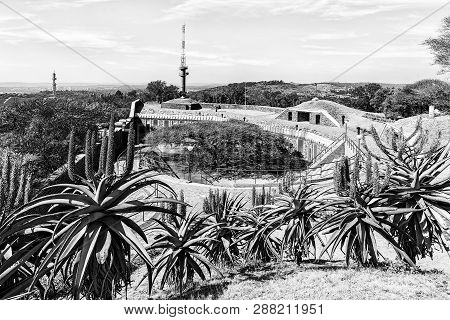 Pretoria, South Africa, July 31, 2018: A View Of The Historic Fort Schanskop, Built In 1897, With Al
