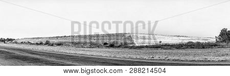 Welkom, South Africa, August 2, 2018: A Mine Dump Near Welkom In The Free State Province Province. A