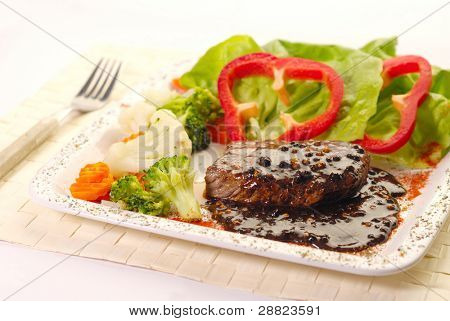 Beef Steak with Pepper