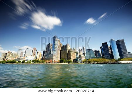 New York City from river
