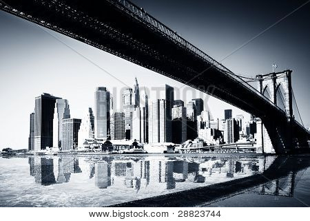 BW siluette Нью-Йорк
