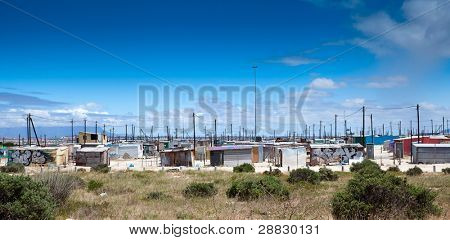 informal settlement in cape town, south africa