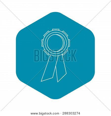 Champion Medal Icon. Outline Illustration Of Champion Medal Vector Icon For Web