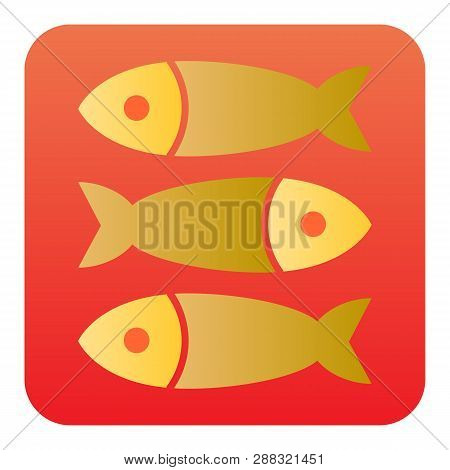 Sprat Fish Flat Icon. Seafood Color Icons In Trendy Flat Style. Food Gradient Style Design, Designed
