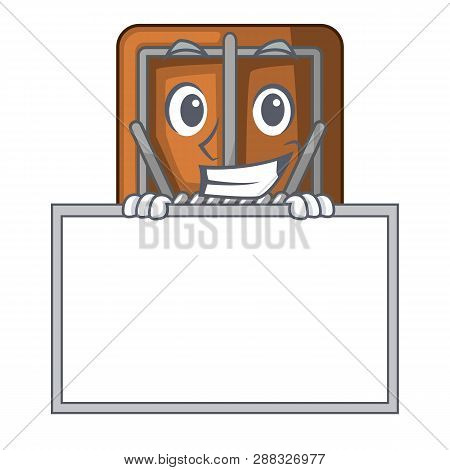 Grinning With Board Mousetrap In The A Character Shape