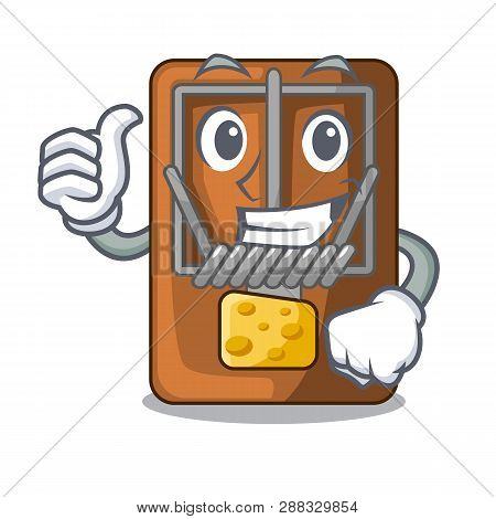 Thumbs Up Mousetrap In The Shape Mascot Wood